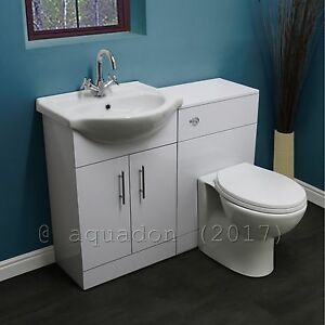 Great Image Is Loading Bathroom Vanity Cabinet With WC Toilet White Furniture