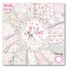Dovecraft Primera Edición 8x8 Bloc De Papel IT'S A GIRL Tarjetas De Scrapbooking
