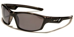 Xloop Anti-Glare Sunglasses UV 400 Wrap Around Rectangular Frame Black