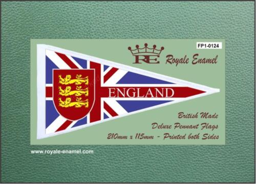ENGLAND 3 GOLD LIONS MODS Royale Antenna Pennant Flag FP1.0124