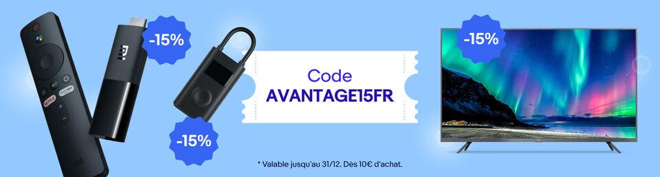 J'utilise mon code - 15%* offerts !
