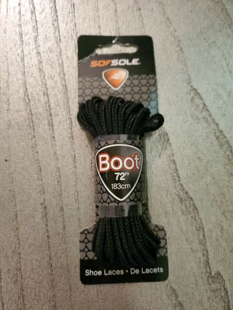 Sof Sole Wax Boot Laces 183Cm Footwear Accessories Black