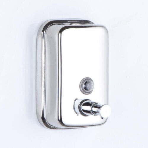 500ML Stainless Steel Hand Soap Shampoo Dispenser Wall Mounted Soap Box Hot 889