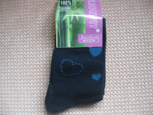 5-7 5 colours Ladies Bamboo socks Sizes 3-5 hearts