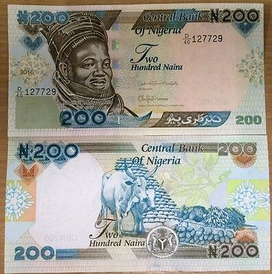 NIGERIA 200 NAIRA 2018 P 29 NEW DATE UNC