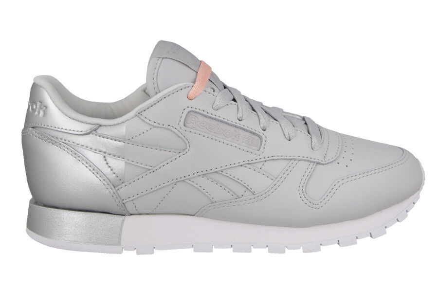 Womens Reebok gr:42 CL Leather Leder Matte Shine Neu gr:42 Reebok Classic leather grey-silver 362d8b