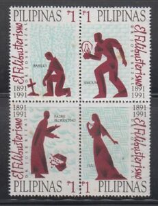 Philippine-Stamps-1991-El-Filibusterismo-Block-of-4-Complete-set-MNH