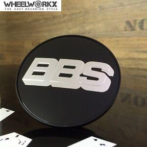 Radient 4x Original Bbs Emblème Jantes Couvercle Centercaps Noir Chrome 70,6mm 0924258-afficher Le Titre D'origine Volume Large
