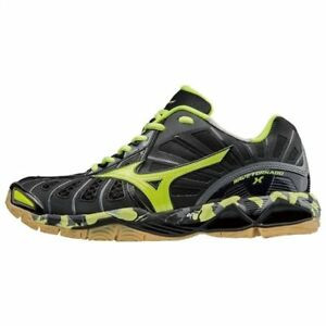 Mizuno WAVE TORNADO X Navy Black Yellow Green Men Volleyball Shoes ... 303cdd2bf0d8c