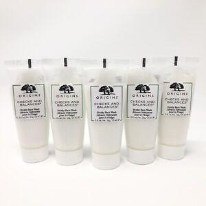 5X Origins Checks & Balances Frothy Face Wash Cleanser .50oz/15ml ea