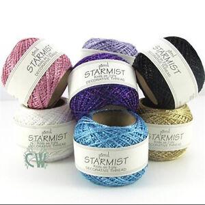 Metallic Colours Available. Jomil Starmist Decorative Glitter Thread 20g Balls