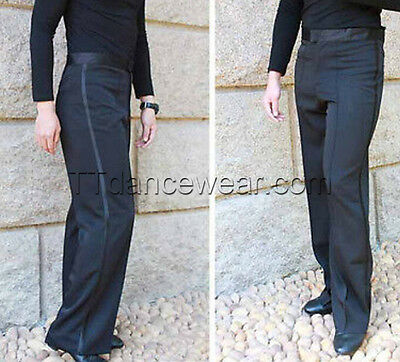 New Men's Ballroom Latin Salsa Dance Pants Smooth Competition Practice Trousers