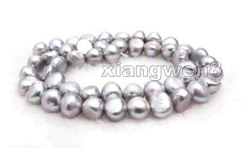 8-9mm White Baroque Natural FW Pearl Loose Beads Jewelry Making DIY Strand 14/'/'