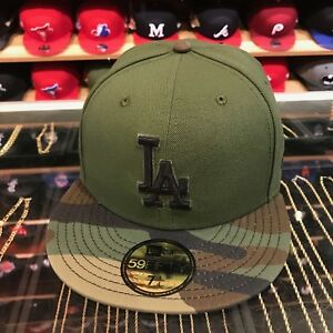 New Era Los Angeles LA Dodgers 2017 Memorial Day Fitted Hat Green/Camo