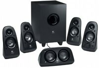 Surround Sound Speakers Logitech Home Theater Subwoofer Channel Cinema Tv