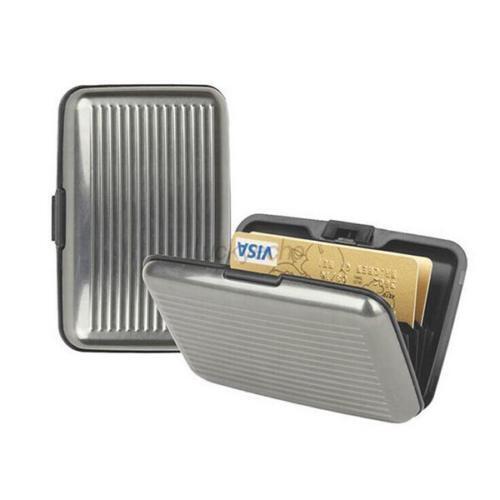 Paiement carte de crédit titulaire Wallet Case Protecteur De Poche Femme Homme Aluminium