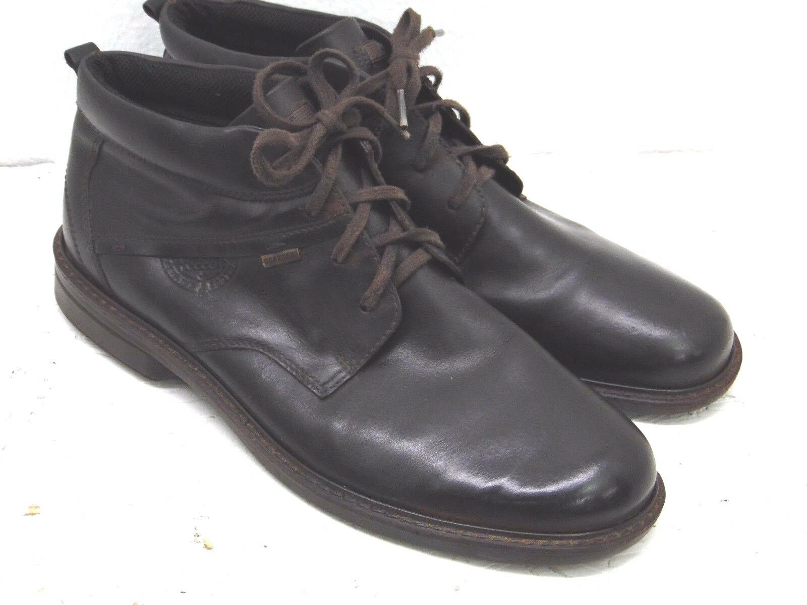 Ecco Gore-Tex Men's Brown Leather Ankle Boots Europe 47 US 13 / 13.5