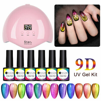 12 Bottles Ur Sugar 9d Magnetic Uv Gel Polish Set 36w Usb Uv Led