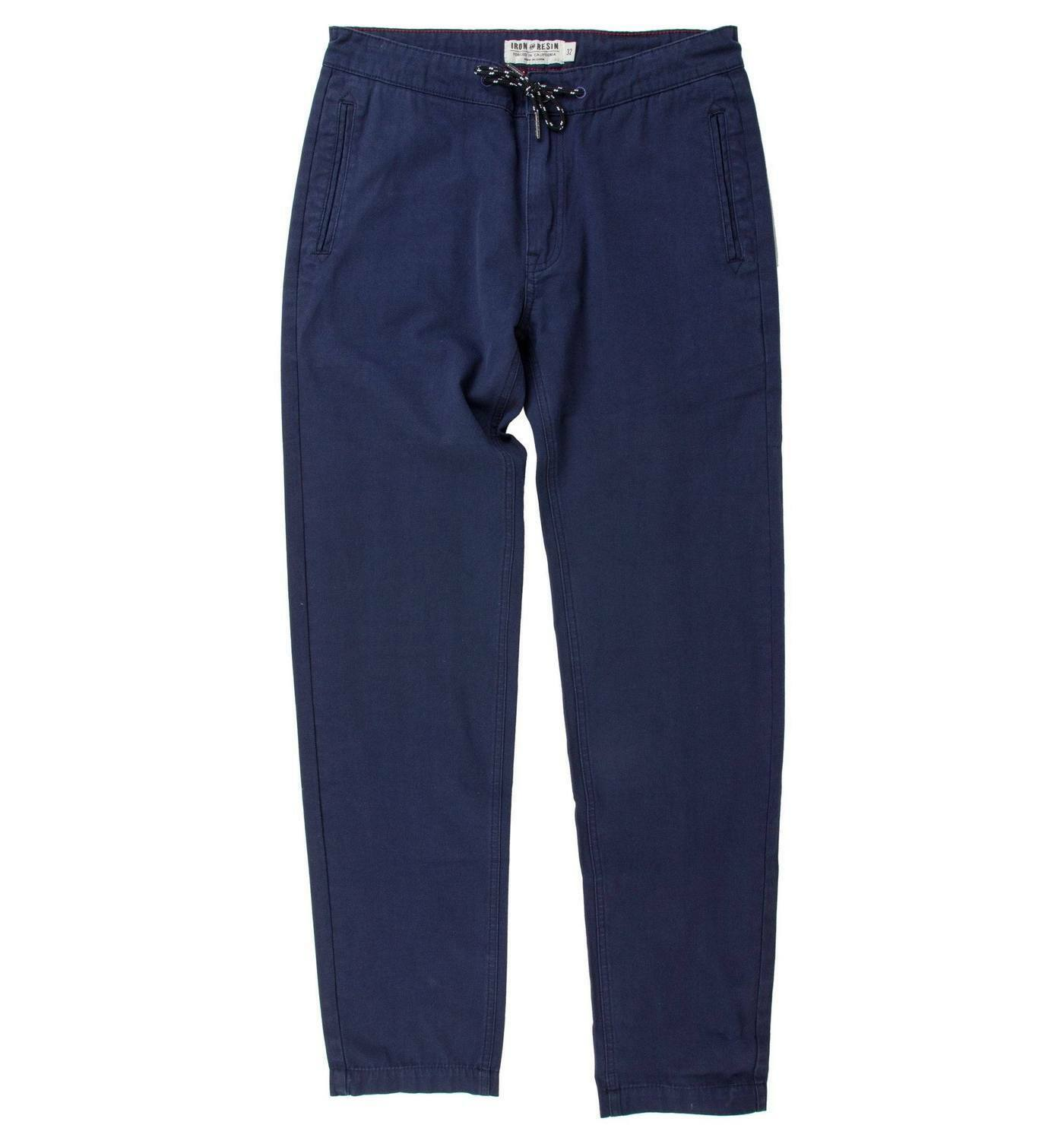 2018 NWT MENS IRON AND RESIN CURRIN PANT  30 Navy elastic waist