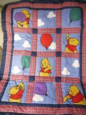 Disney Winnie The Pooh 3 Pc Nursery BALLOON PLAY Baby Boy Crib Bedding