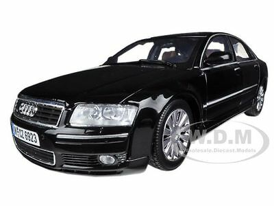2004 AUDI A8 BLACK 1:18 DIECAST MODEL CAR BY MOTORMAX 73149