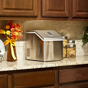 Image Is Loading Portable Clear Cube Ice Maker Compact Countertop Small