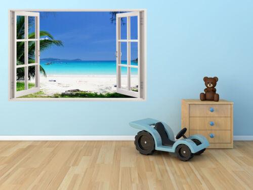 Wall Beach Art Window Decal View 3d Removable Decor Vinyl Stickers Sticker Home