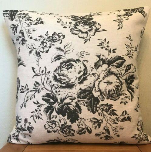 Mélange De Lin Housse de Coussin en noir ~ Taille 46 cm Choux Et Roses Paris Rose