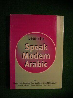 Learn to speak arabic book