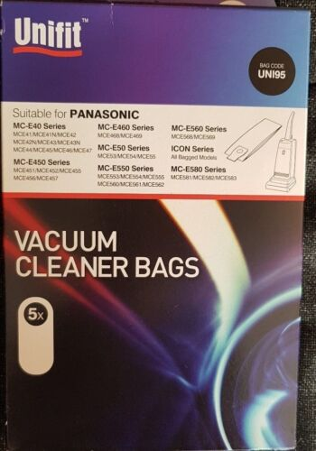 UNIFIT compatible Panasonic sacs pour aspirateur UNI95
