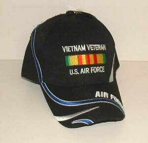 97ee4d1f4b1 Details about Air Force Vietnam Veteran Embroidered Licensed Black Military  Ball Cap/Hat.