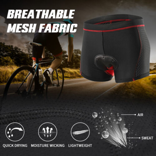 Men/'s Cycling Underwear Gel Pad MTB Shorts Shockproof Underpants Breathable M9I9