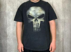 Official Punisher T Shirt TV Logo Skull Marvel Comics Black S M L XL XXL