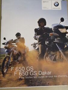 CATALOGUE MOTO : BMW : F 650 GS   F 650 GS DAKAR   11/2003