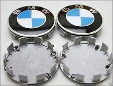 x4 BMW Alloy Wheel Badges Center HUB Caps 68mm E34 E36 E39 E46 E60 F10 M3 M5 X5