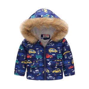 Kids-039-Winter-Warm-Coat-Toddler-Outerwear-Boy-Hooded-Jacket-Windbreaker-Clothes