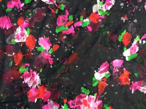 per metre /'Gulia', dress fabric Italian Silk Devore 100/%