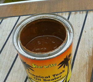 STARBRITE-Teak-Oil-Tropical-Teak-Sealer-Natur-light-Test-Segeln-versiegeln-473ml