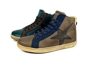 Bisgaard-Halbschuhe-Schnuer-Kinder-Leder-Schuhe-mit-Stern-Sneaker-Gr-24-36-31809