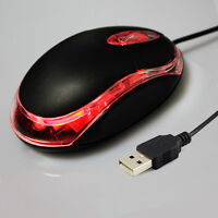 USB 2.0 Wired Mini Wheel Scroll Optical LED Mice Mouse For Laptop PC New Chic