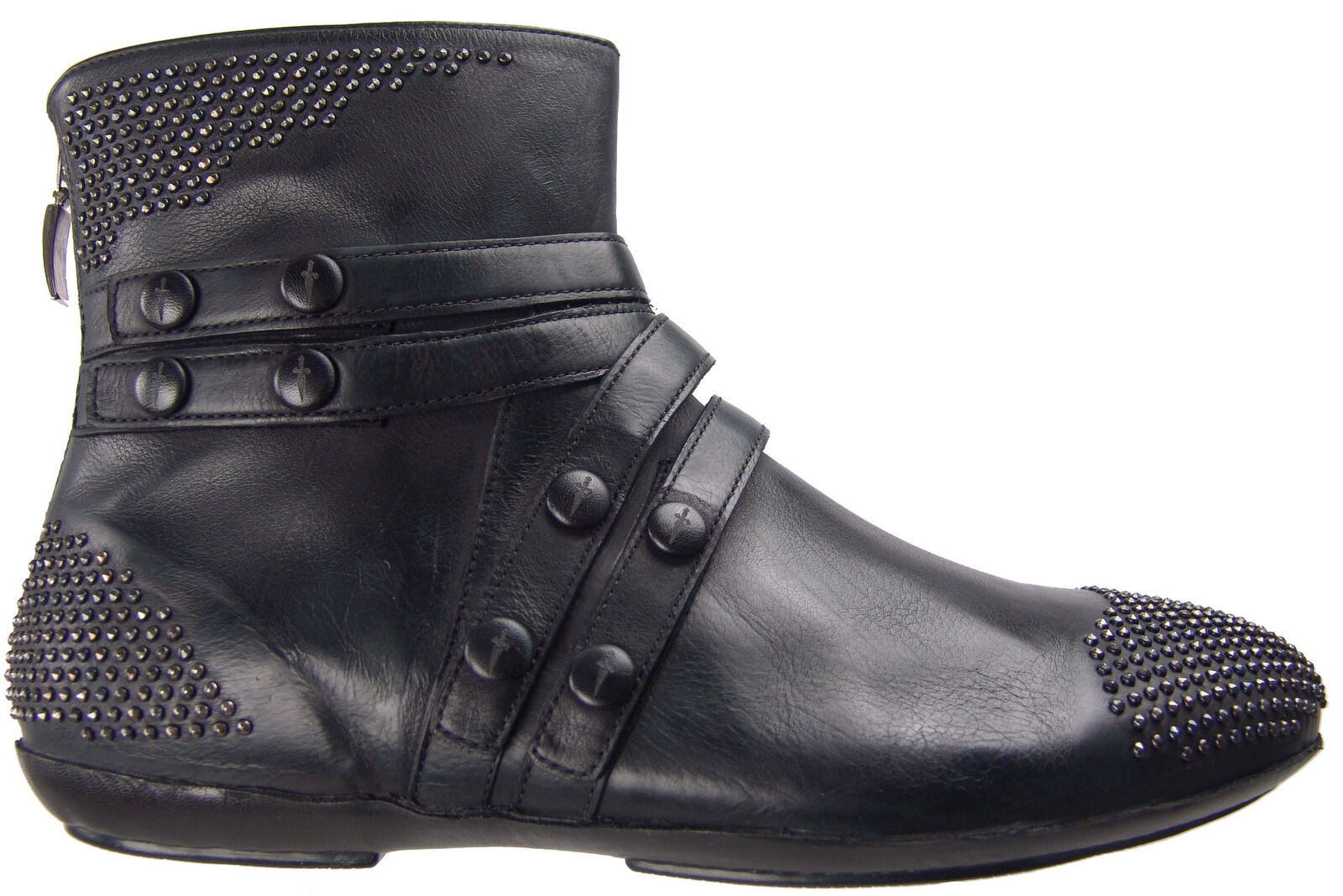 CESARE PACIOTTI   6 SUPER STYLISH ANKLE BOOTS STUDDED LAMB LEATHER Uomo SHOES