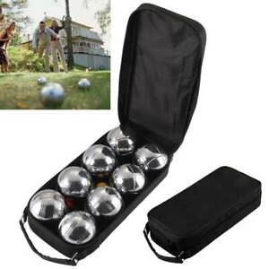 8-pc-Steel-French-Boules-Set-Petanque-Balls-Garden-Game-Free-Carry-Case-NEW-Fun