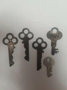 "2 NOS Vintage CORBIN Fancy Iron Cabinet Furniture Skeleton Keys 2-1//4/"" Long"