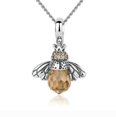 Queen Bee Honey real 925 sterling Silver  Charms Bead Pendant
