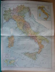 1919 LARGE MAP EUROPEITALY SARDINIASICILY eBay