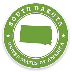 2-x-10cm-South-Dakota-USA-Vinyl-Sticker-Laptop-Car-Travel-Luggage-Tag-Flag-9451