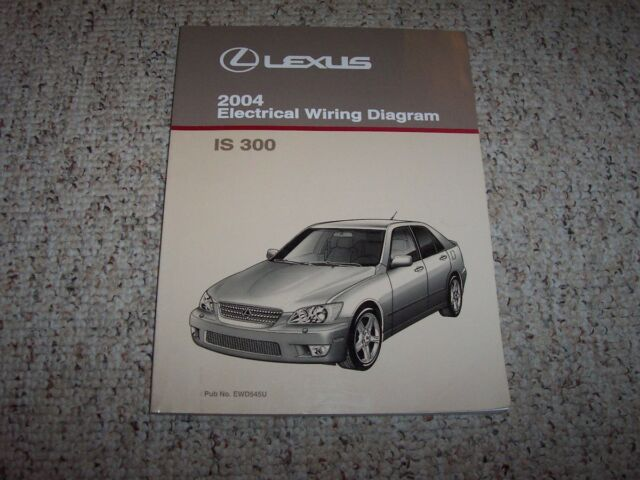2004 Lexus Is300 Is 300 Electrical Wiring Diagram Manual 3 0l Sedan Wagon