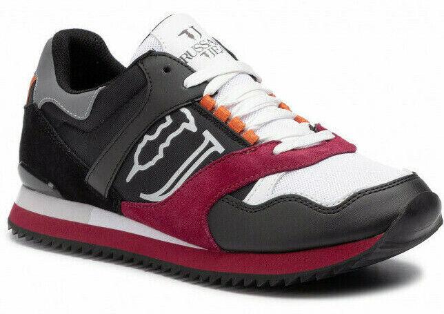 Trussardi Jeans 77A00187 E707 Runner Syntetic Neu Leather Schuhe Herren