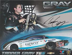 2017-Tanner-Gray-signed-Valvoline-034-1st-issued-034-Chevy-Camaro-PS-NHRA-postcard