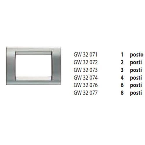 GW32071 GEWISS PLACCA 1 POSTO CROMO SOFT PLAYBUS